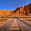 Causeway leading to upper courtyard of Hatshepsut memorial temple, Deir el Bahari, Luxor.