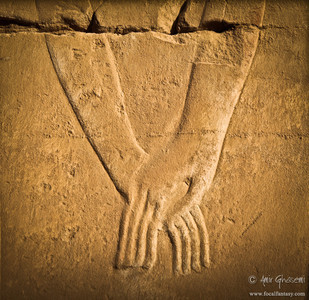 """Eternal Love""  Bas relief at Karnak temple, Luxor."