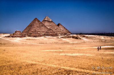 Great pyramids of Giza, Cairo.
