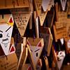 Kitsune (fox) shaped Shinto prayer boards at Fushimi Inari, Kyoto.