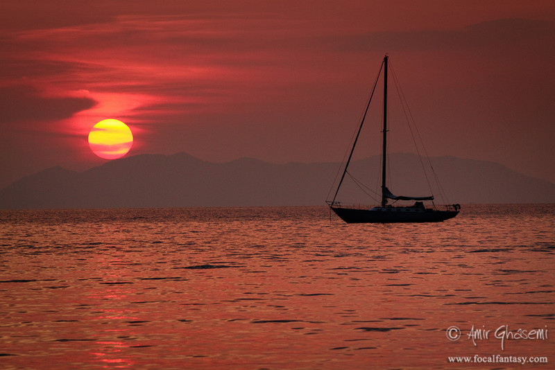 Andaman sunset, Railay bay, Krabi.