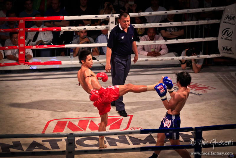 Muay Thai kick boxing, Bangkok.