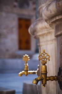Ablution fountain, Sultan Beyazit mosque.