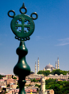 Süleymaniye mosque seen from Zeyrekhane, Istanbul.