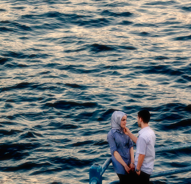 """A Bosphorus Love Story""<br /> <br /> Under the Galata bridge, Istanbul."