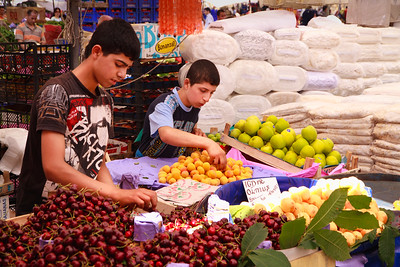 Young market vendors, Kadikoy.