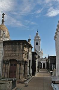 Nuestra Señora del Pilar Church, seen from La Recoleta Cemetery (Cementerio de la Recoleta)