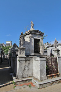 La Recoleta Cemetery (Cementerio de la Recoleta), located in the Recoleta neighbourhood of Buenos Aires. It contains the graves of notable people, including Eva Perón, Raúl Alfonsín, and several presidents of Argentina.)