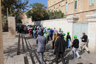 Pilgrims on the Via Dolorosa, The Old City of Jerusalem