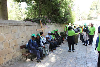 Pilgrims at Bethesda (the Old City of Jerusalem)