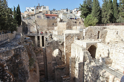 The Pool of Bethesda in the Old City of Jerusalem