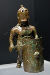 Gladiatoren,secutor,statue,beeldje,bronze,100-200 AC