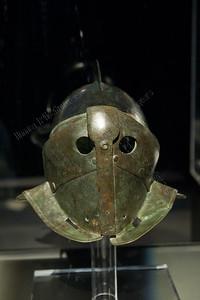 Gladiatoren,Secutor helmet,helm vanSecutor,casque d'un Secutor,exposition,tentoonstelling,exposition