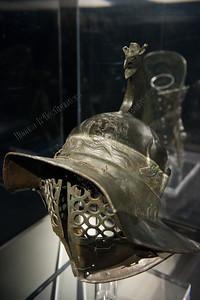 Gladiatoren,Thraex helmet,helm vanThraex,casque d'un Thraex,exposition,tentoonstelling,exposition