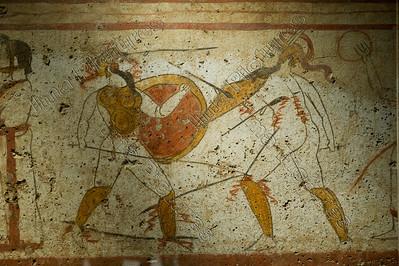 Gladiatoren,fresco,350 BC Phaestum
