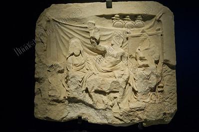 Gladiatoren,relief grafe,graf reliëf,tombe,2 bustuari banquet,banket 323-31 BC,Pietrasanta