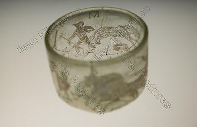 Gladiatoren,glass goblet,glazen drinkber,goblet en verre,400 AC,Trier,Trèves