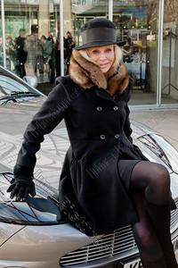 opening Bond in motion exposition,Britt Ekland,Aston Martin DBS,Beaulieu,Great Britain,Groot-Brittannië,Grande Bretagne,James Bond 007