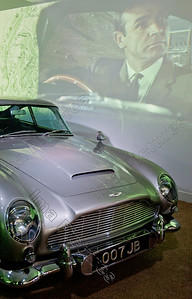 opening Bond in motion exposition,Aston Martin DB5,Beaulieu,Great Britain,Groot-Brittannië,Grande Bretagne