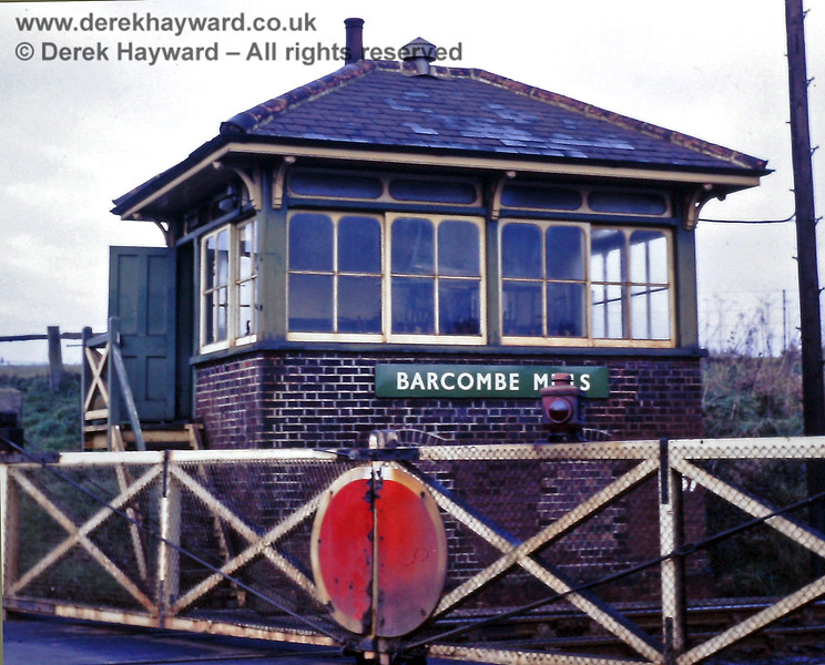 Barcombe Mills signal box, pictured on 01.01.1969.  Eric Kemp retains all rights to this image.