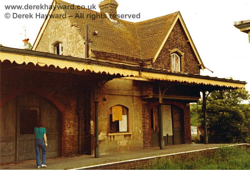 The main building of Barcombe Mills station, looking north in 1983, prior to auction. Nick Mander retains all rights to this image.