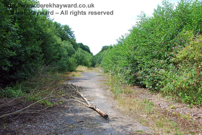 This view looks back south through the old goods yard from the northern end of the station. There is nothing left. Uckfield Old Station 27.07.2008