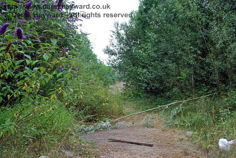 This view looks north, through the now featureless goods yard. Uckfield Old Station 27.07.2008