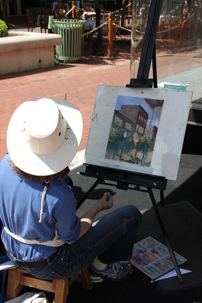 """The Allegany Arts Council sponsors a plein aire competition the first week in June.  Saturday morning is the """"quick draw,"""" two hours to produce a painting, have it judged, and most of them are sold during that two hours!!"""