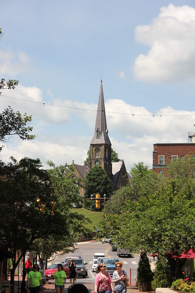 Views of the steeples of Cumberland.  There are many and varied.