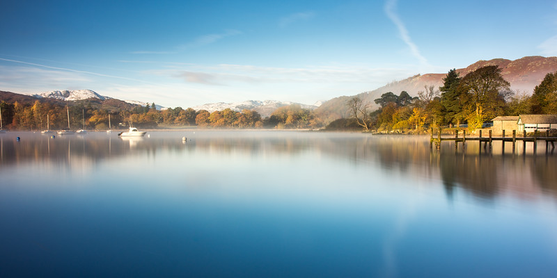 Misty morning on #Windermere #lakedistrict