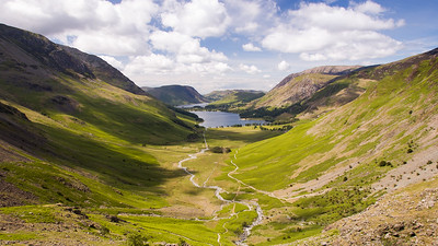 Buttermere valley from Giant Haystacks