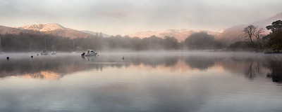 Misty morning on Windermere lake