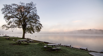 Misty autumn morning at YHA Ambleside