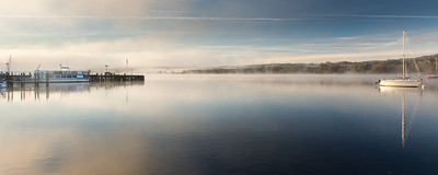 Misty morning on #Windermere lake