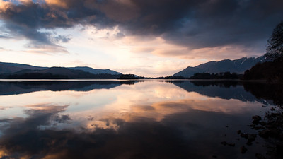 Skiddaw sunset on Derwent Water