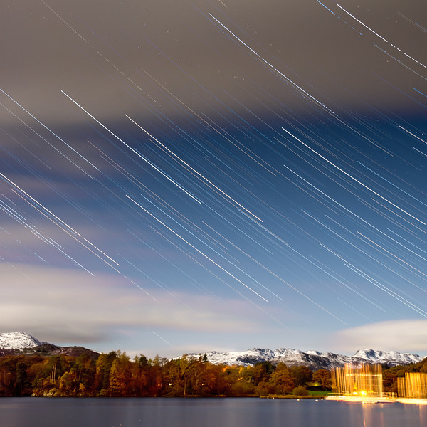 Star trails over the Lake District