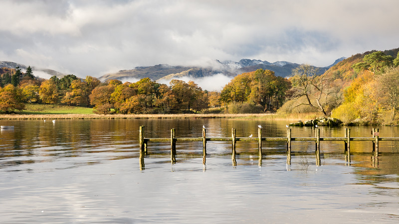 Autumn morning on #Windermere lake