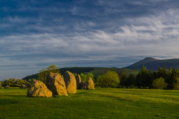 Sunrise at Castlerigg and Skiddaw