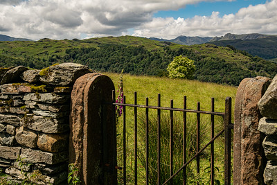View to the Langdale Pikes.