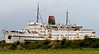 Duke of Lancaster, Mostyn, 26 August 2009.     The former Heysham - Belfast ferry continues to decay.