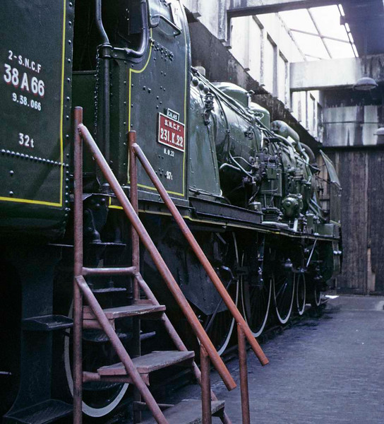 SNCF No 231 K 22, Carnforth Steamtown, 9 June 1973    This French Pacific arrived at Steamtown in March 1970; in 2010 it was at the South German Rly Museum, Heilbronn. Photo by Les Tindall.