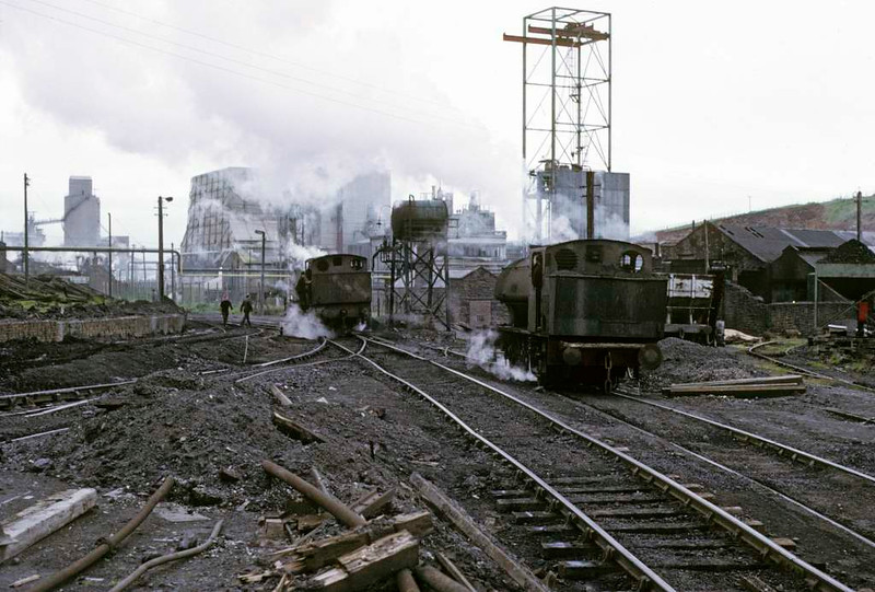 Warspite & Respite, Ladysmith coal washery, Whitehaven, 9 June 1973.  Photo by Les Tindall.