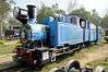 Matheran Light Rly 0-6-0T No 739, Delhi Rly Museum, Sat 24 March 2012.  Orenstein & Koppel 2342 / 1907.  MLR carriages 852 and 812 are behind.