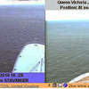 The 2 webcams... my last shots. In the right shot, QV has QM2 on screen ahead.