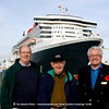 Tee, John and Bill before I board the ship behind us, and they go on QE2.