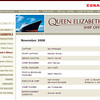 The final list of officers. The Cunard website FINALLY has it right.