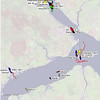 QE2 aground map