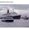 From BBC video. QE2 coming into the pier 11/11/08 AM