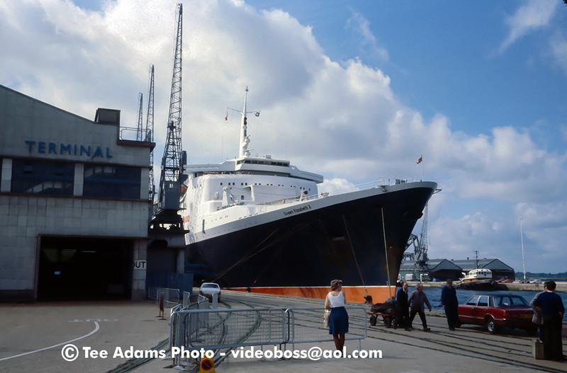Summer 1978 docked in Southampton UK.
