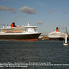 HISTORY - The 2 ships pass for the last time while QE2 is in Cunard service.